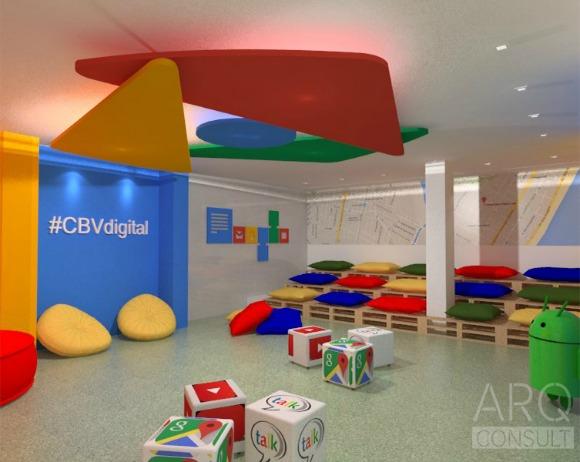 Perspectiva do sala conceito, que será instalada no Colégio Boa Viagem. Crédito: Reprodução/ARQ Consult