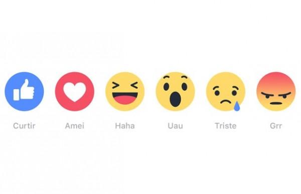 Novas reações do Facebook estão disponíveis para o Brasil - Crédito: Divulgação/Facebook
