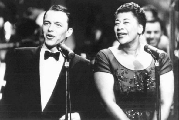 Frank Sinatra e Ella Fitzgerald. Crédito: Reprodução Internet