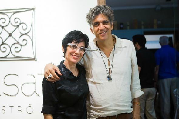 A artista plástica Dayse Pontes e seu marido Criolo. Crédito: Clara Gouvêa/Divulgação