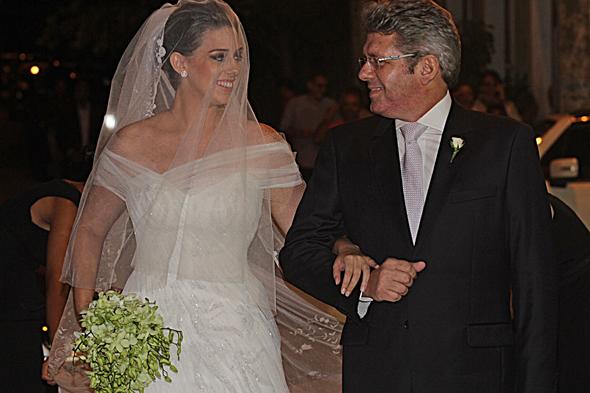 Gabriela com o pai Gustavo de Albuquerque Maranhão. Crédito: Roberto Ramos/DP
