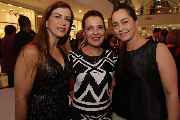 Liliane Fiuza, Monica Miranda e Clotilde Pinto - Crédito: Roberto Ramos/DP