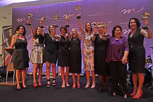As premiadas da noite - Crédito: Roberto Ramos/DP