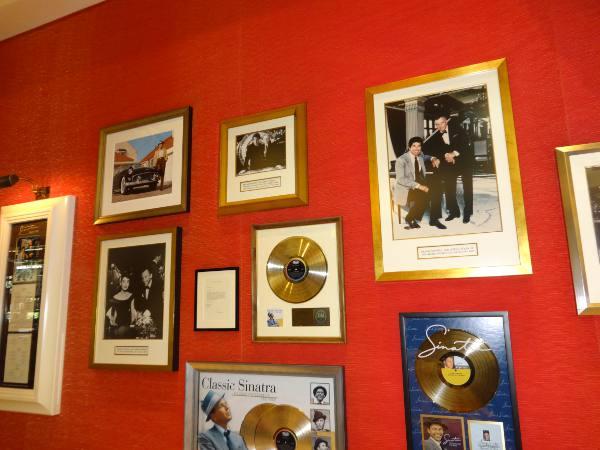 Decoração do restaurante Sinatra