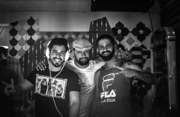 Os Djs Guigo, Barba e Titico comandam o agito - Crédito: Divulgação
