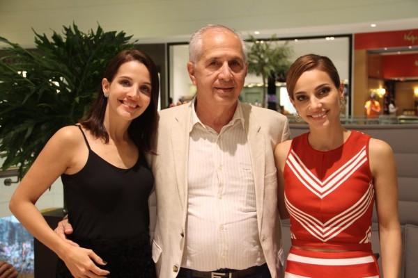 Cecília, Alexandre e Cris Lemos - Crédito: Luciano Alpes/4Comunicação/Divulgação
