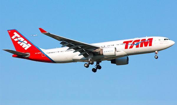 Avião da TAM/Divulgação