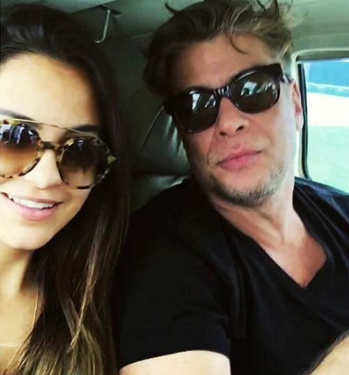 Pally Siqueira e Fábio Assunção em foto postada pela atriz no seu Instagram. Crédito: Reprodução Instagram