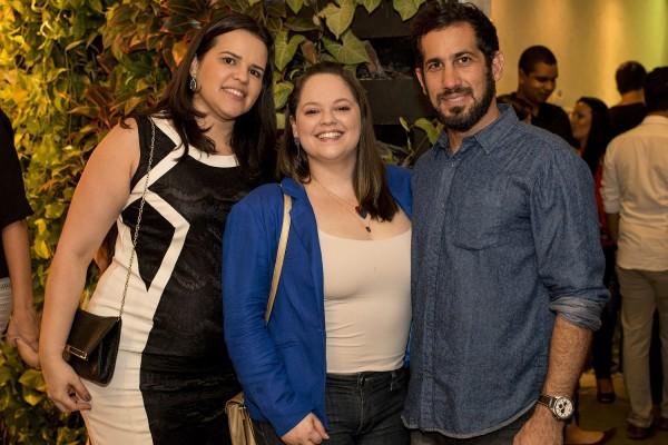 Ana Lúcia, Carol e Raphael - Crédito: Ame Fotografia/Divulgação