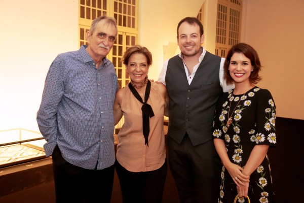 Chicão, Marcia Nejaim, Mateus Corradi e Suzana Azevedo - Crédito: Gleyson Ramos/Divulgação