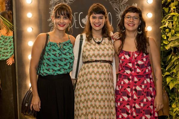 Marina Viturino, Lia Tavares e Bruna Pontual - Crédito: Ame Fotografia/Divulgação
