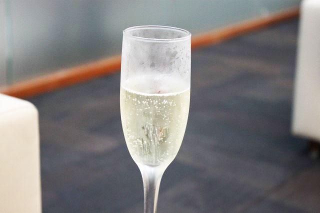 Champagne antes da decolagem