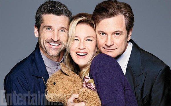 Patrick Dempsey, Renée Zellweger e Colin Firth - Crédito: Reprodução/Twitter