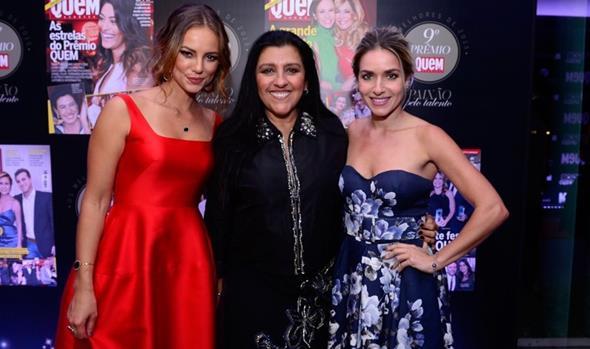 Paolla Oliveira, Regina Casé e Monique Alfradique. Crédito: Fabio Cordeiro/Ed. Globo