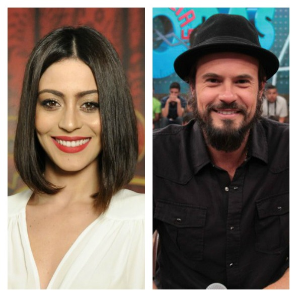 Carol Castro e Paulinho Vilhena - Créditos: Estevam Avellar/TV Globo e TV Globo/Altas Horas