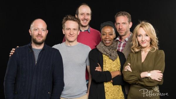 Produtores e o elenco da peça que contará a oitava história de Harry Potter - Crédito: Manuel Harlan/Reprodução/Pottermore