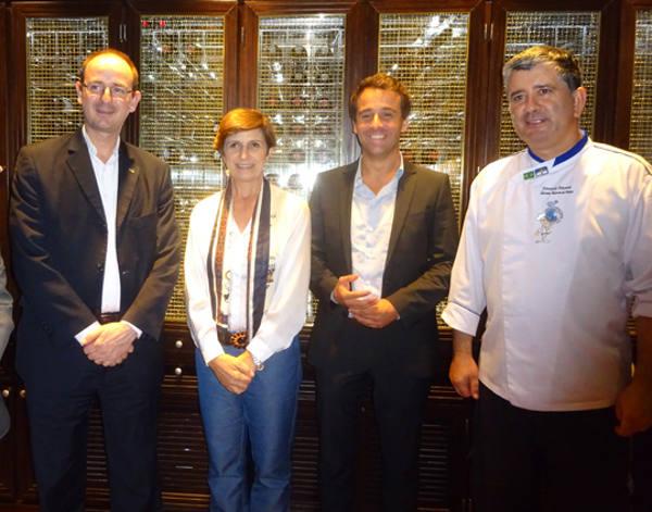 Guido Stutz, Jô Mazarollo, Helder Marcelino e o chef Fernando Fonseca