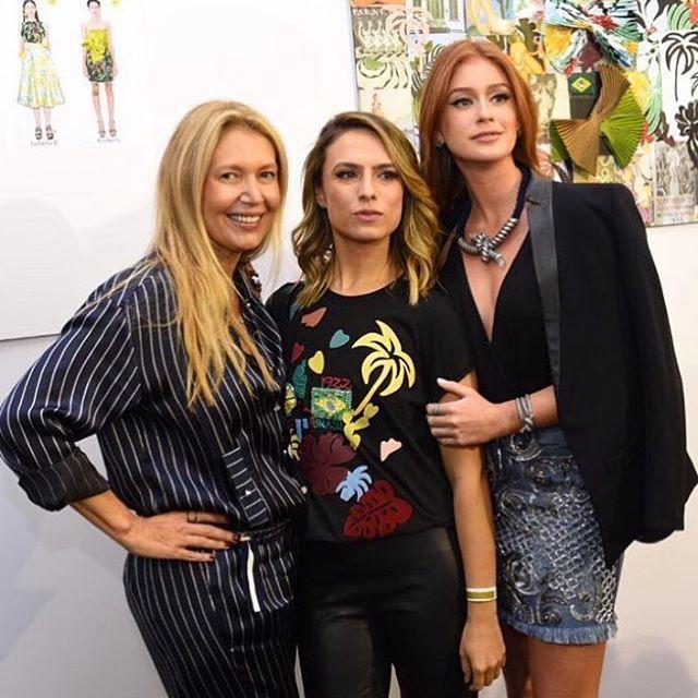 Donata Meirelles, Patricia Bonaldi e Marina Ruy Barbosa - Crédito: Reprodução do Instagram