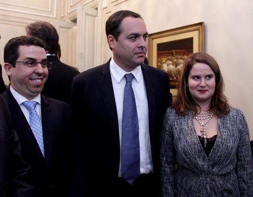Silvio Neves com Paulo e Ana Luiza Câmara - Crédito: Brenda Alcantara/Esp.DP