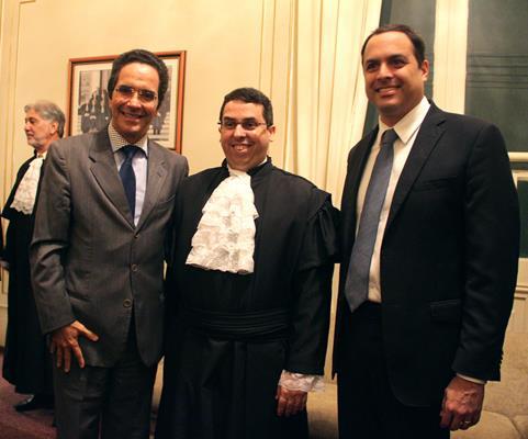 Mauricio Rands, Silvio Neves e Paulo Câmara - Crédito: Brenda Alcantara/Esp.DP