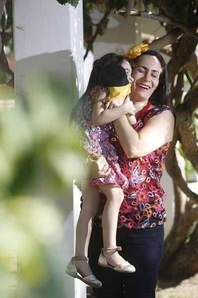 Ilana Ventura e Maria Clara - Crédito: Rafael Martins/Esp. DP