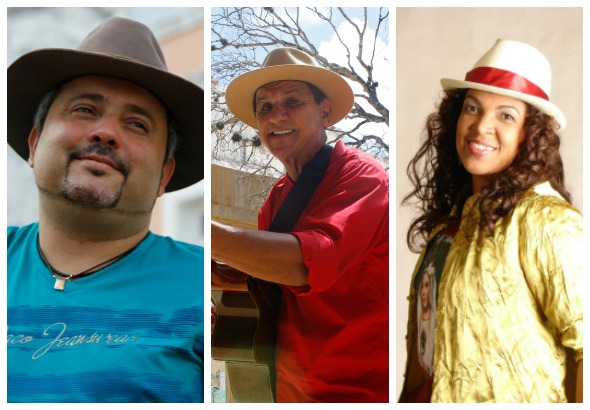 Geraldinho Lins, Petrucio Amorim e Nadia Maia - Crédito: Blenda Souto Maior/DP, Rodrigo Silva/Esp.DP e Divulgação do artista/Nádia Maia