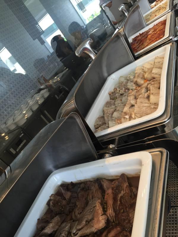 Pratos do buffet