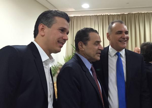Felipe Carreras, ministro Henrique Eduardo Alves e Nelson Pelegrino, presidente da CTI Nordeste