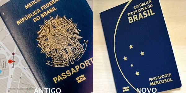 O passaporte brasileiro antigo e o novo