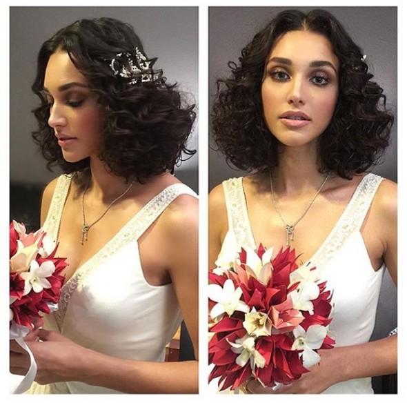 Cabelo e penteado da noiva. Crédito: Reprodução/ Instagram
