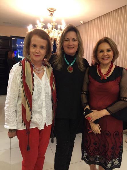 Ana Lúcia Vieira Belo, Mônica Gil e Lourdes Barreto. Crédito: Heracliton Diniz / Divulgação