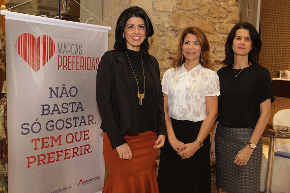 Tarciana Morais, Kátia Tavares e Brites Caminha. Crédito: Roberto Ramos / DP
