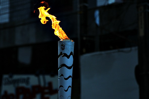 Tocha olímpica - Crédito: Paulo Paiva/ DP