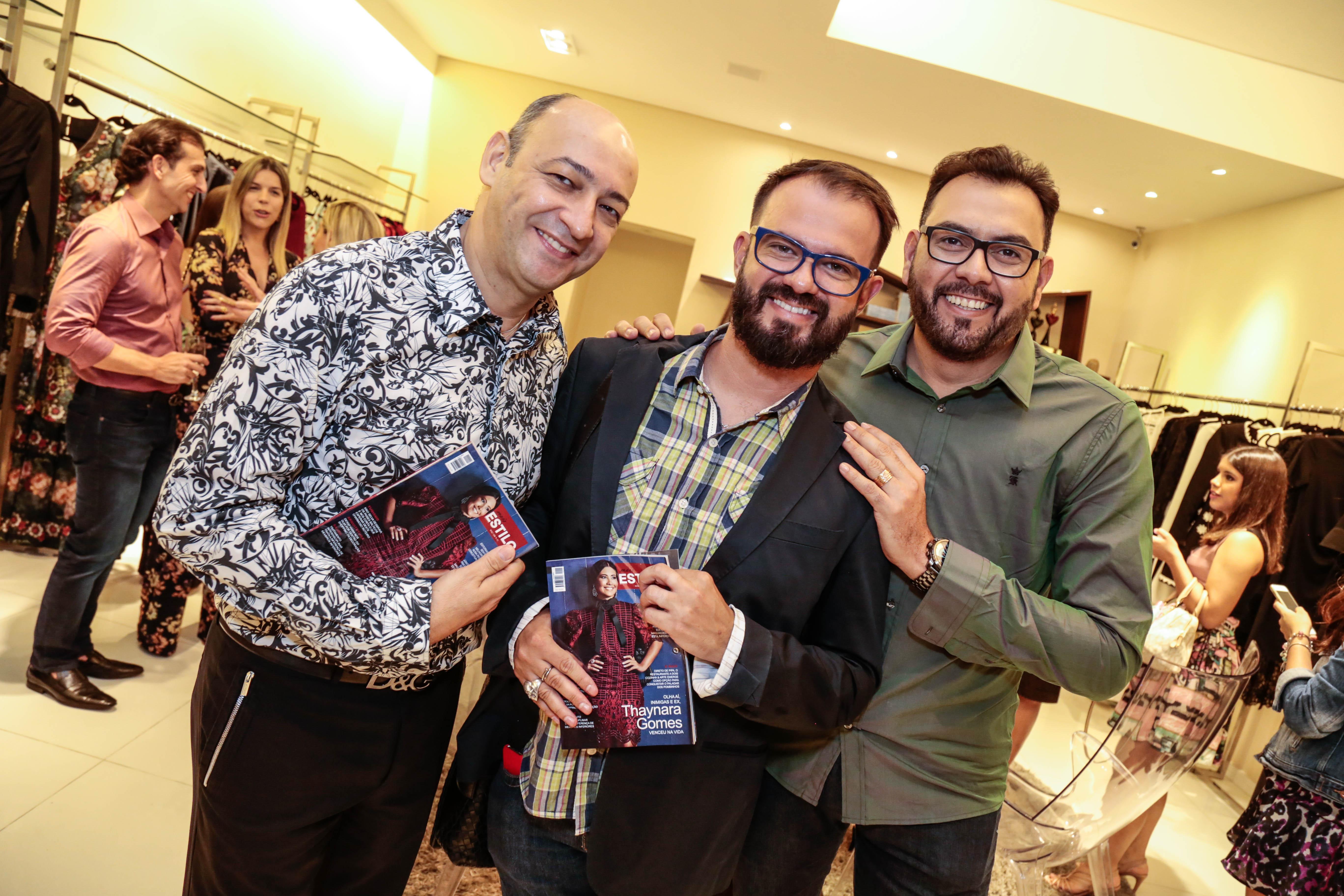 Cesar Santos, Leo Silva e Auricélio Romão - Crédito: Gleyson Ramos/Divulgação