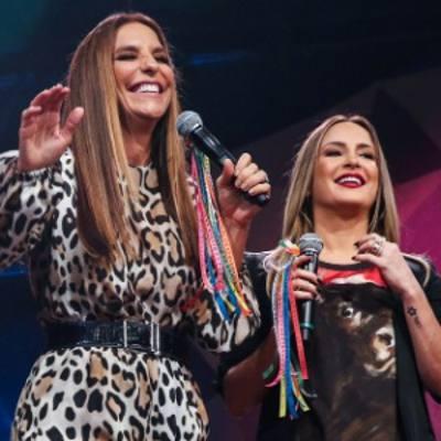 Ivete Sangalo e Cláudia Leite/TV Globo/Divulgação