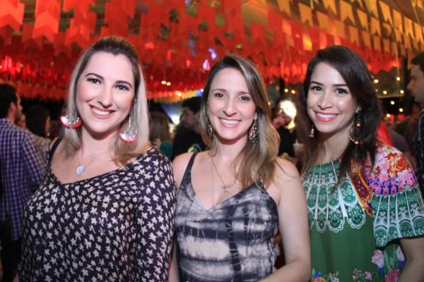 Luanna Falcão, Dayana Ximenes e Maria Eduarda Chaves - Crédito: Luiz Fabiano/Divulgação