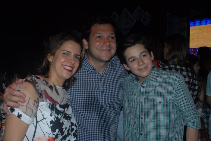 Cristina, Geraldo Julio e o filho Eduardo