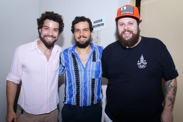Thiago Megale, Marcelo Machado e Lucas Logiovine. Crédito: Wellington Costa