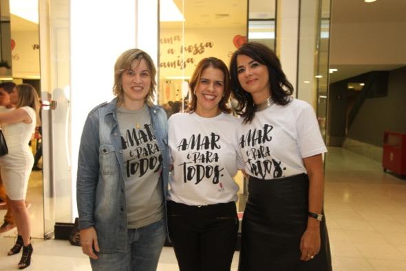 Daniele Viana, Cristina Melo e Ione Costa. Crédito: Nando Chappetta / DP