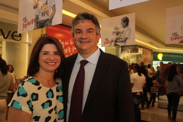Ana Paula e Augusto Carreras. Crédito: Nando Chiappetta / DP