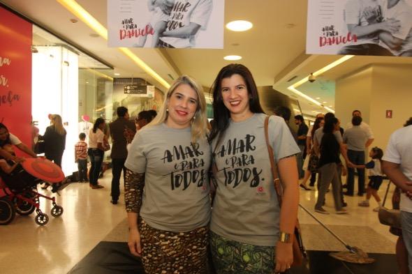 Lele Carvalho e Luiza Nogueira. Crédito: Nando Chiappetta / DP