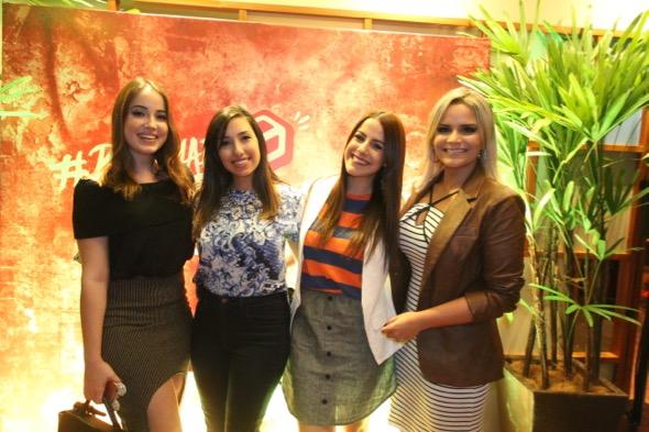 Karina Filizola, Laurinha Marinho, Gio Zírpoli e Cuca Amorim. Crédito: Nando Chiappetta / DP