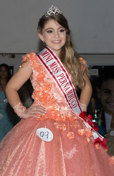 Maria Clara é a nova Mini Miss Pernambuco - Crédito: César Sakuragui/Divulgação