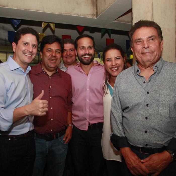 Bruno Araújo, Mendonça Filho, Marcelo Carlero, Raquel e João Lyra Neto