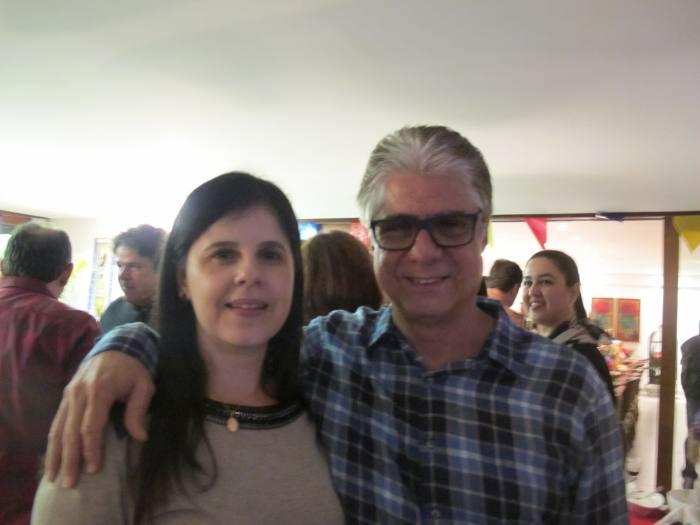 Erica Fwerraz e Álvaro Jucá