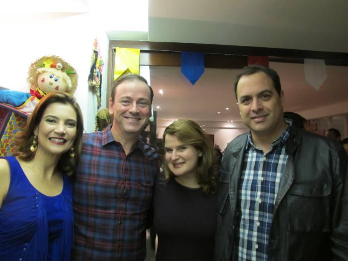 Sandra e Thiago Norões, Ana Luiza e Paulo Câmara