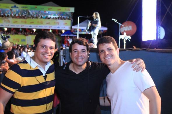 Eduardi Prota, Diogo Noronha e Luciano Rego. Crédito: Luiz Fabiano / Divulgação