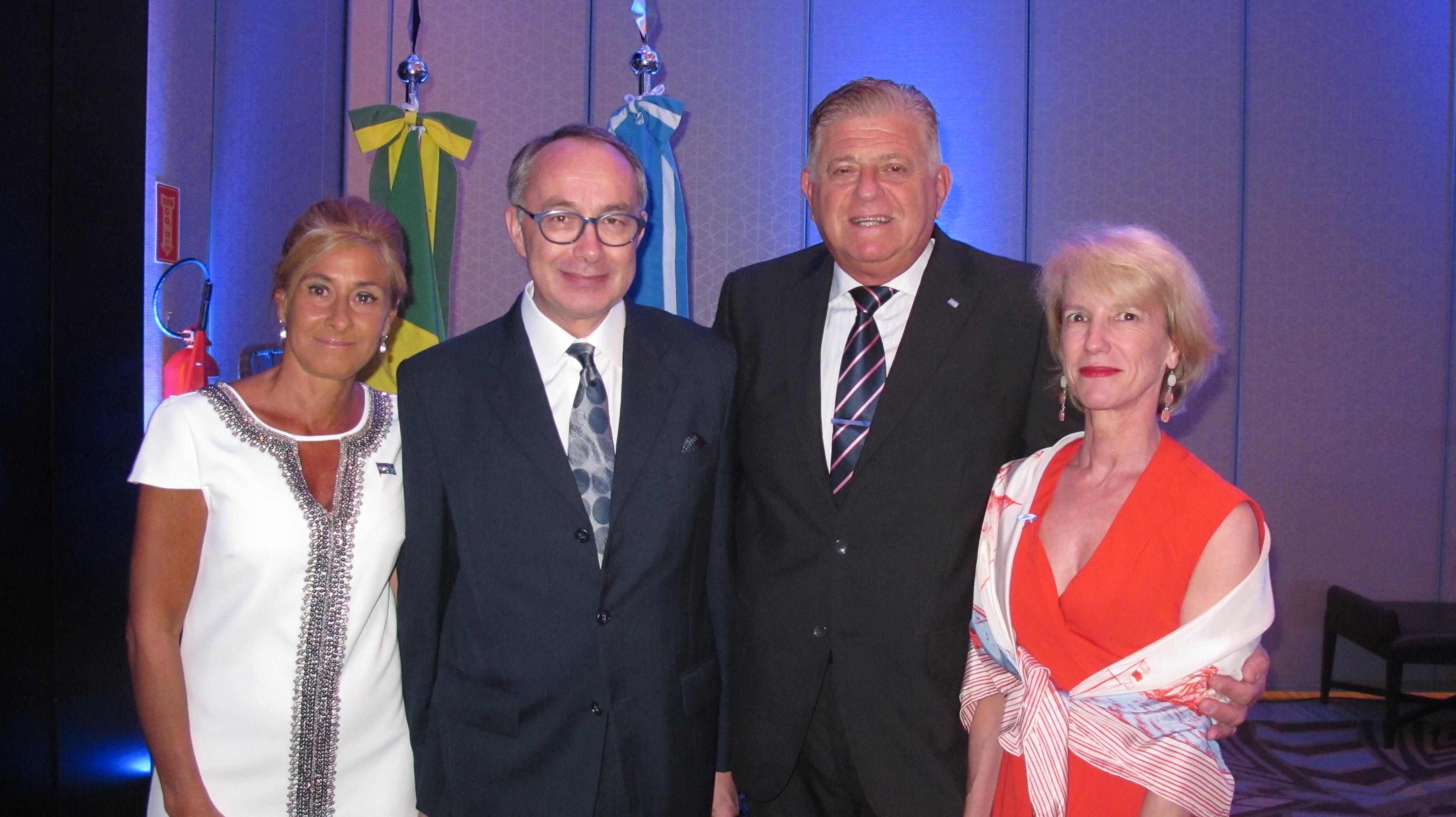 Os cônsules da Argentina e França