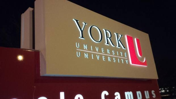 york-university-sign