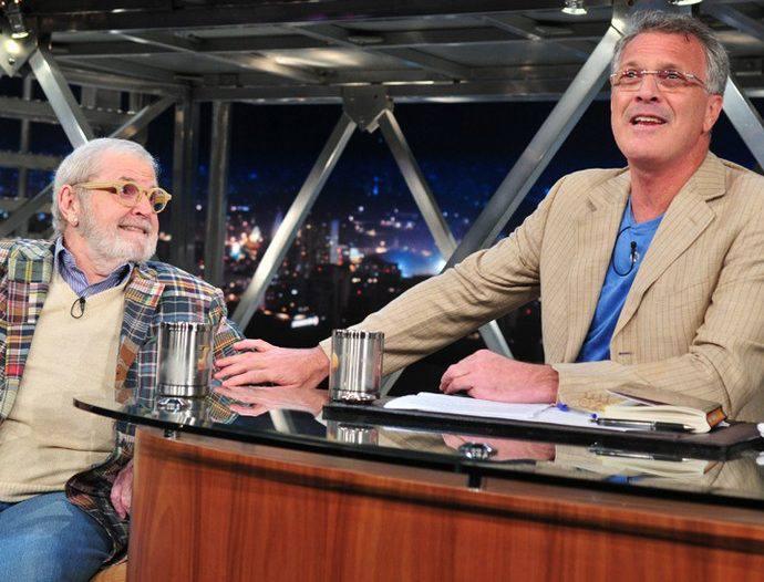Jô Soares e Pedro Bial/TV Globo/Divulgação